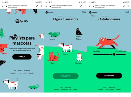 Lista Mascotas Spotify