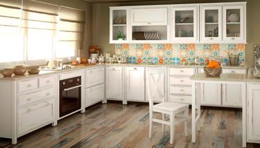 Nueve ideas de revestimientos para crear contrastes en  cocinas blancas