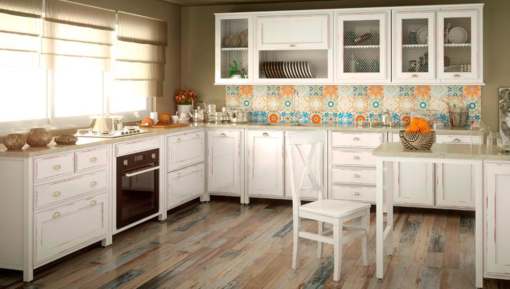 Nueve ideas de revestimientos para crear contrastes en - Revestimiento para cocinas ...