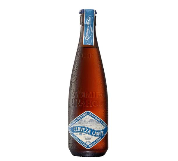 Casimiro Mahou Amaniel cerveza rubia pilsner botella 37 cl