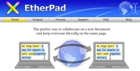 EtherPad, desarrollo de documentos de manera colaborativa y en tiempo real
