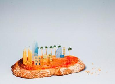 Brunch City, una serie de mini ciudades hechas con alimentos