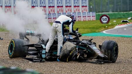 Russell Bottas Imola F1 2021