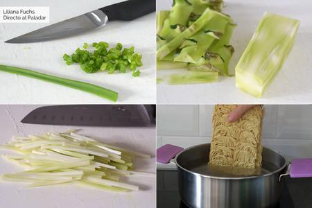 Noodles. Pasos