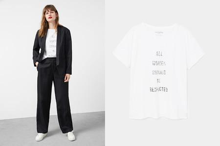 Clon Dior Camiseta Feminist Primavera Verano 2017 Mango 2
