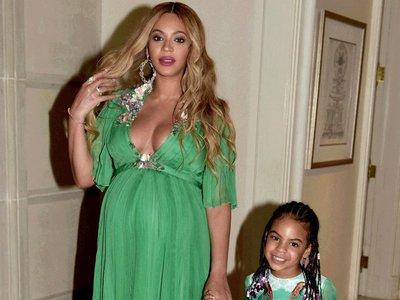 Beyoncé luce un vestido de Gucci de 28.000 dólares y se marca un twinning con su hija, Blue Ivy