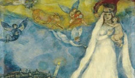 La Virgen de la aldea Marc Chagall