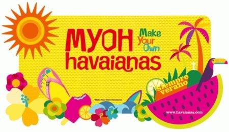 Servicio de MYOH Havaianas para personalizarlas en Madrid