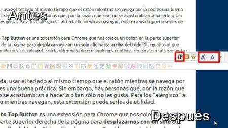 Aumenta el tamaño de letra de sitios web en Chrome sin usar el zoom