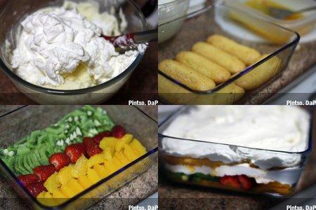 Tiramisú de frutas. Frutas