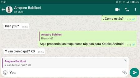 Truco: Así puedes responder rápidamente mensajes concretos de WhatsApp