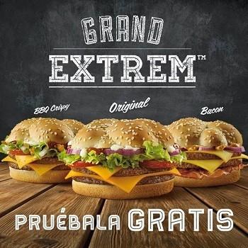 Prueba gratis 'Grand Extrem', la nueva hamburguesa de McDonald's
