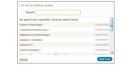 Wordpress enlazando a contenidos propios ya generados