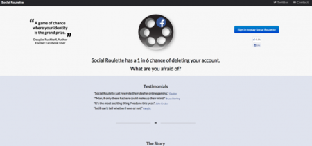 Facebook no se anda con bromas y suspende Social Roulette