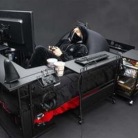 En Japón han ideado el espacio gamer definitivo: una cama gaming rodeada de todo lo necesario para no tener que abandonarla