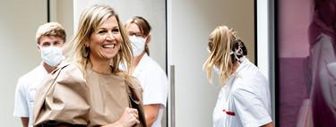 Máxima de Holanda se apunta a la moda 'low cost' con un vestido de H&M de última tendencia