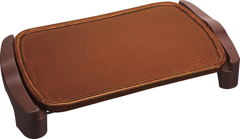 Jata GR559 - Plancha de asar de terracota. Superficie: 46 x 28 cm. Fabricada en España. No se raya. Fácil limpieza [Clase de eficiencia energética A]