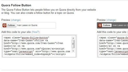 Quora lanza su botón para seguir usuarios o temas desde cualquier parte