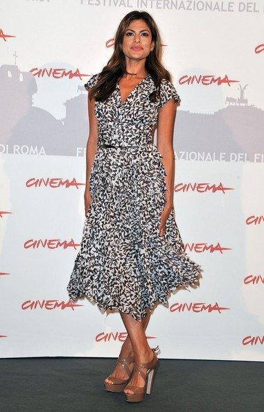 Los looks de Eva Mendes en Roma