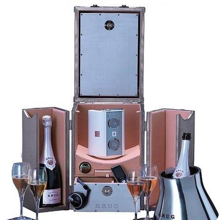 Maleta para tomar champagne