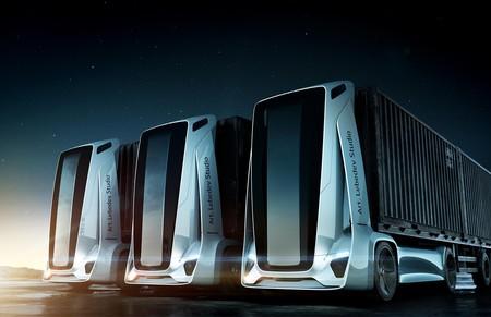 Gruzovikus, un ejercicio de diseño que imagina el futuro del transporte con camiones autónomos: sin cabina y sin nadie al volante
