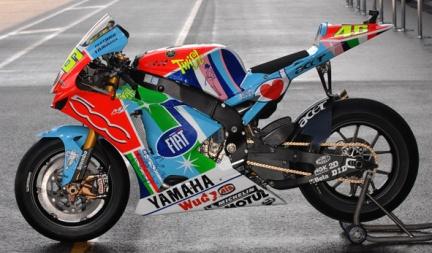 Decoración especial de las Yamaha en Assen, fotos reales