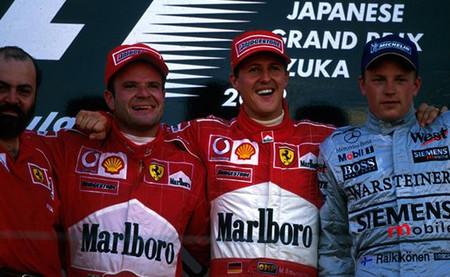 Podio GP Japón 2002