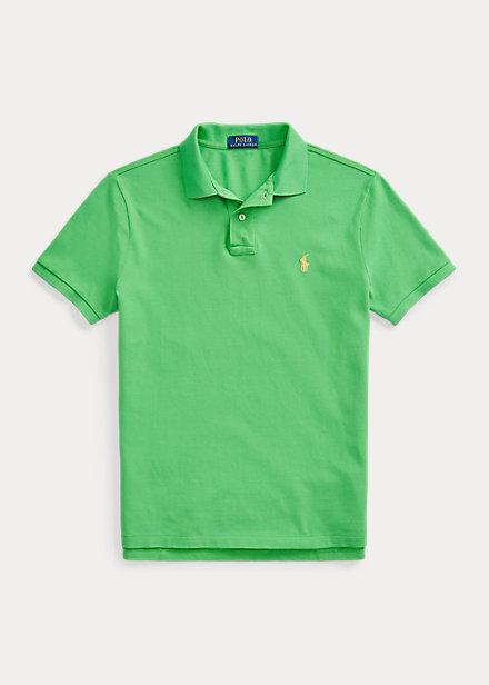 Polo de piqué en color neón green