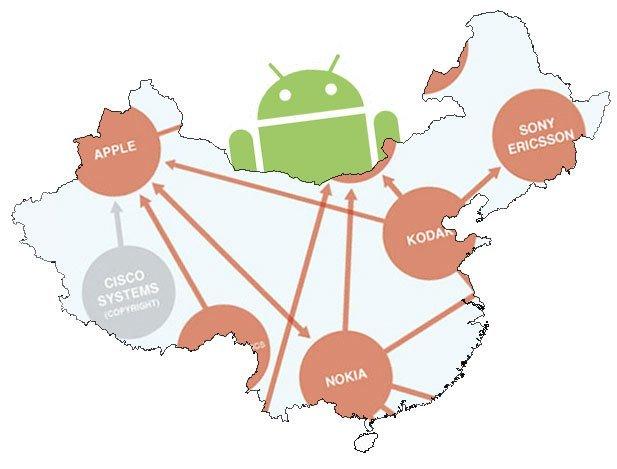 Las patentes y Android preocupan a la industria China