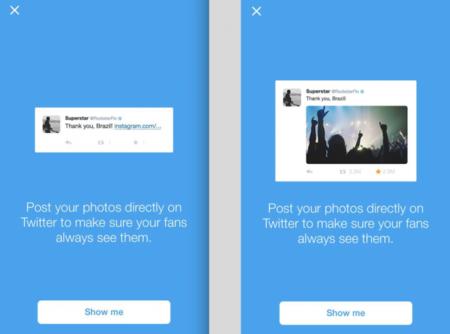 Twitter sugiere a sus usuarios populares que no suban sus fotos a Instagram