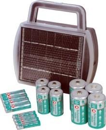 Cargador de pilas mediante energía solar