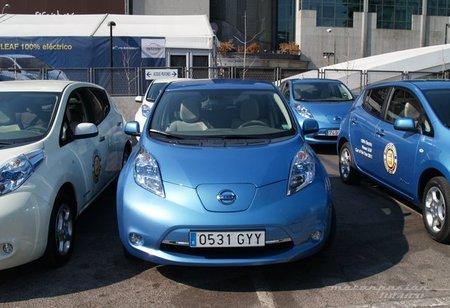 Miniprueba del Nissan LEAF en el blogger day
