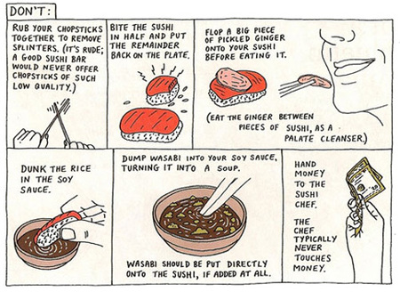 guía de estilo para comer sushi - don´t do
