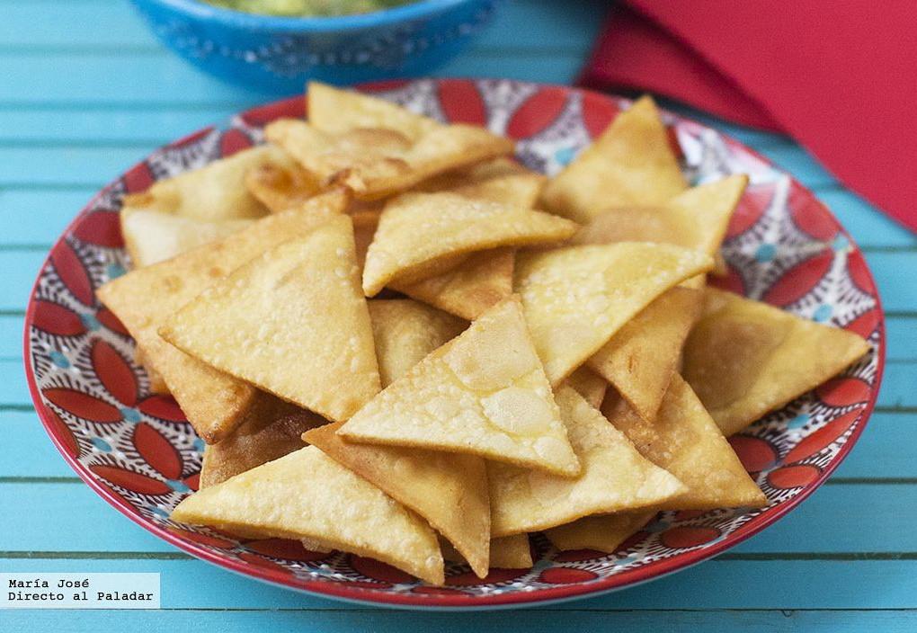 Totopos O Nachos Caseros Mexicanos Receta De Cocina Fácil Sencilla Y Deliciosa
