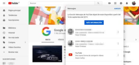 Google cierra su enésimo servicio de mensajería: los mensajes de YouTube se despiden en septiembre