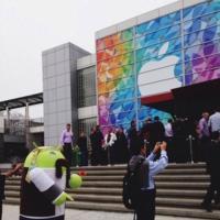 La imagen de la semana: Andy se cuela en la última keynote de Apple