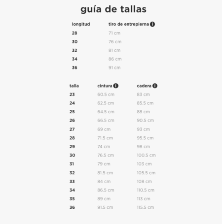 Guia Tallas