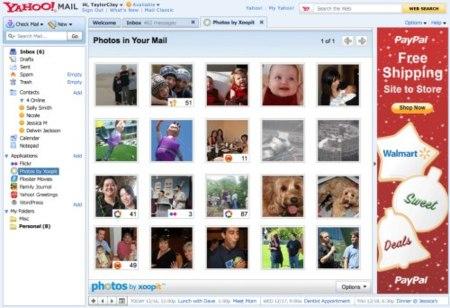 Aplicaciones y funciones sociales en Yahoo Mail