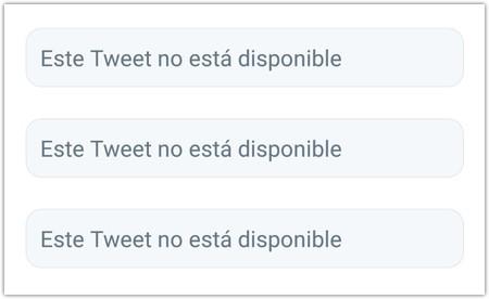 Este Tweet No Esta Disponible El Mensaje Que No Paras De Ver En Twitter Tiene Su Origen En Un Error Google Chrome 2019 06 11 17 00 04