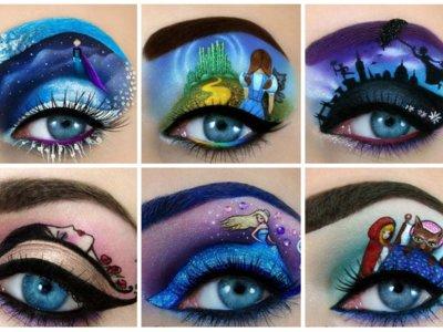 Maquillar párpados tiene un nuevo significado gracias a estas increíbles obras de arte