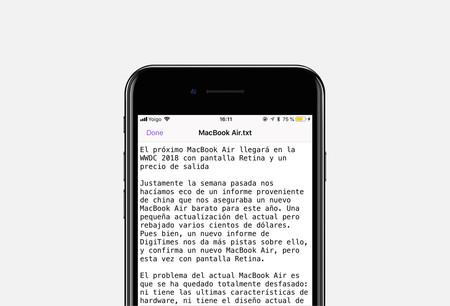 El TextEdit de iOS se llama Textor y es una app tan simple como efectiva