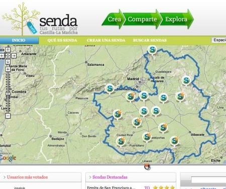 Senda: red social de rutas por Castilla-La Mancha