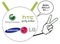 Samsung, HTC, Sony Ericsson y LG reaccionan positivamente a la compra de Motorola por parte de Google