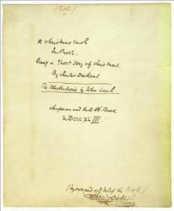 Manuscrito Cuento de Navidad
