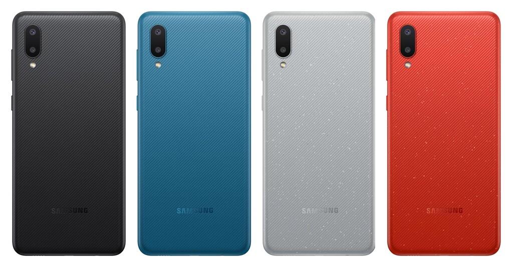 Samsung Galaxy™ A02, lo mas básico del fabricante incluyen gran batería con un boceto reconocible