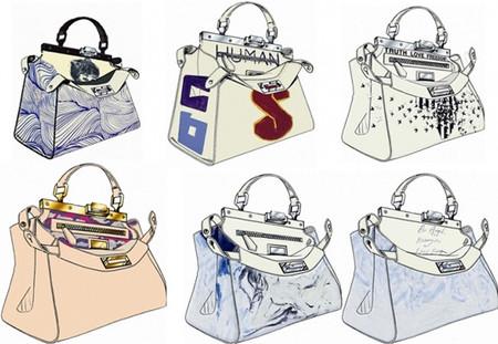 Las celebrities personalizan el icónico bolso Peekaboo de Fendi a favor de Kids Company