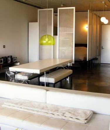 Una buena idea: Paneles para separar el dormitorio