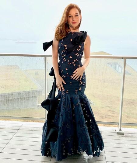 Jane Levy Oscar Renta Golden Globes 2021