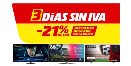 Tres Días Sin IVA en MediaMarkt 2021: estas son las mejores ofertas en televisores