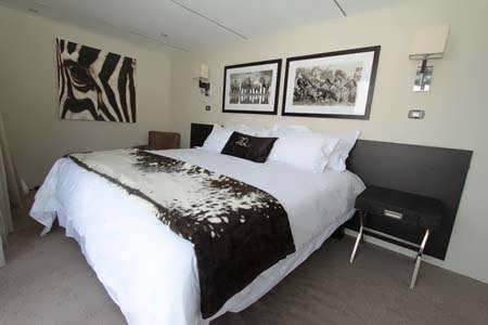 Un dormitorio del hotel Zambezi Queen.